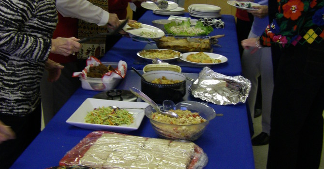 United Church Women Share in Fun Christmas Luncheon image