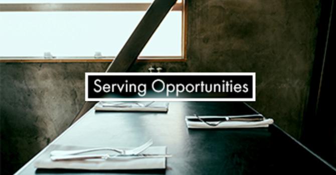 Serve Opportunities (Volunteers Needed) image