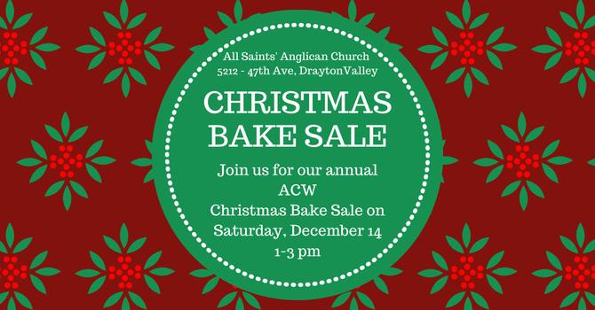 All Saints' Christmas Bake Sale