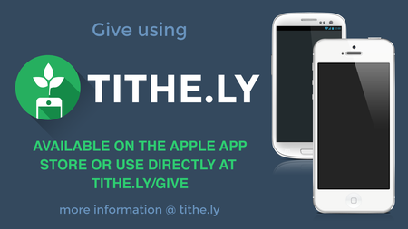 Introducing Giving online with Tithe.ly