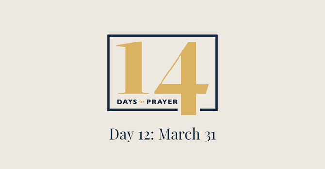 14 Days of Prayer Devotional: Day 12 image