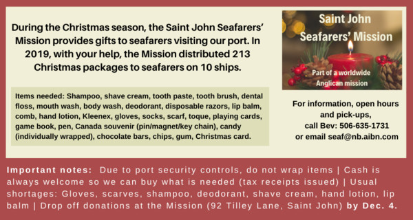 News from the Mission to Seafarers