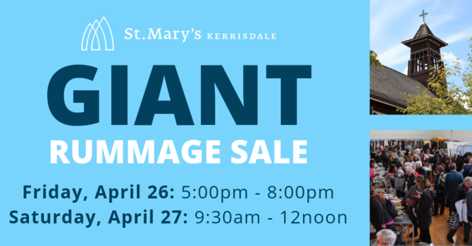 St. Mary's GIANT Rummage Sale image