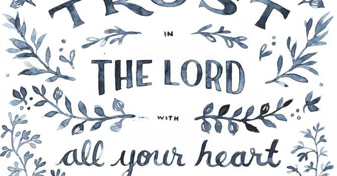Trust in the Lord image