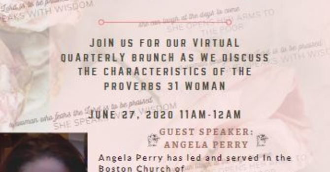 """Single Women Virtual Brunch """"She Laughs at the Days to Come"""" June 27 image"""