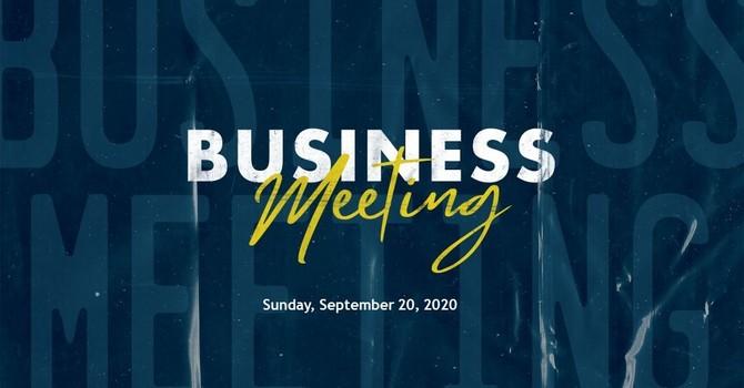 SVBC Congregational Meeting image