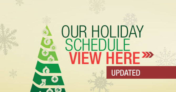 Our Holiday Schedule image