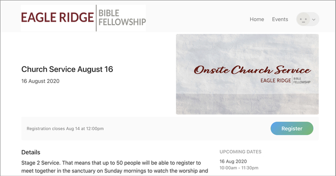 Stage 2: Onsite Church Services image
