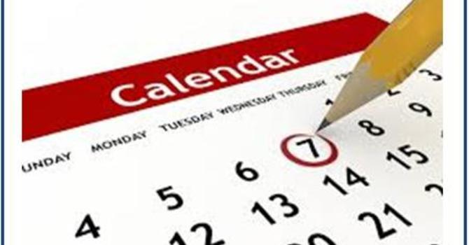 2018 Church calendar