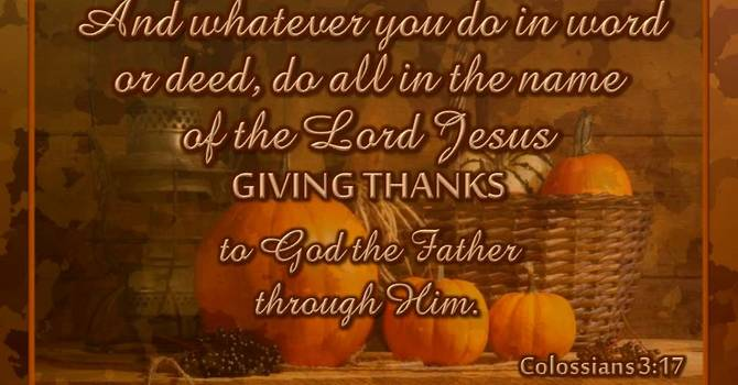 For Reasons To Be Thankful