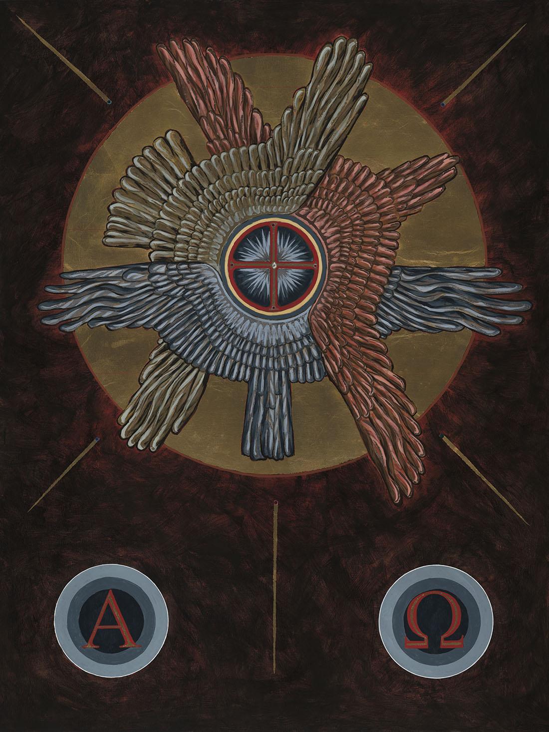 Holy Trinity Icon by Darcy Garneau