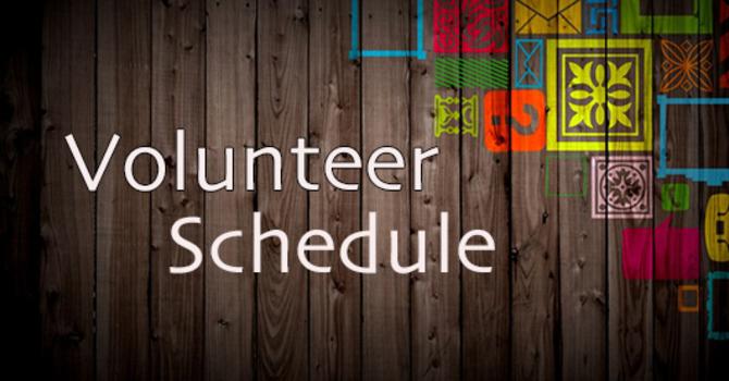 June Volunteer Schedule image