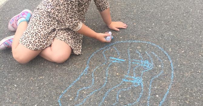 Kids Connection Parking Lot Art image