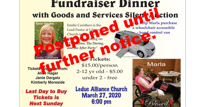 Marla Fundraiser Cancelled image