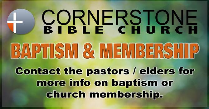 Baptism/Membership