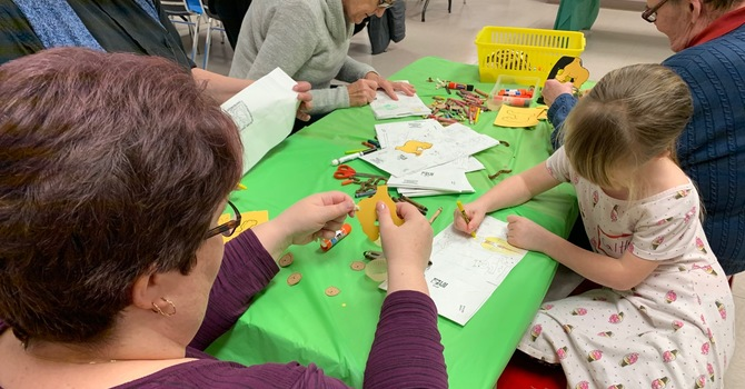 Messy Church roars into the new year! image