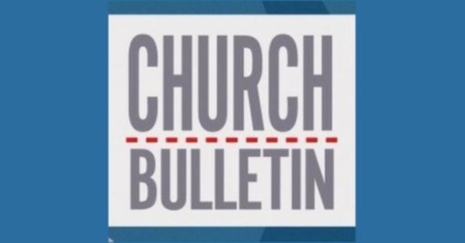 Sunday Bulletin - May 13, 2018