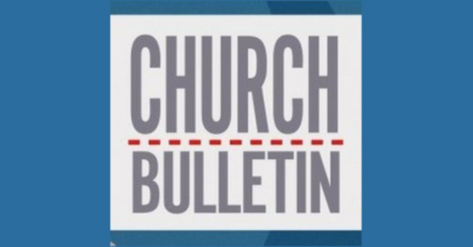 Sunday Bulletin - May 27, 2018