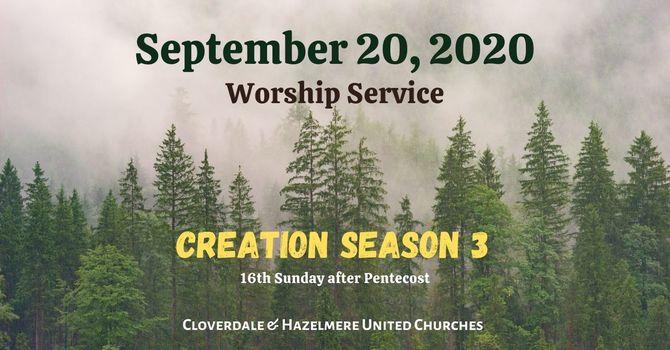 September 20, 2020 Worship Service image