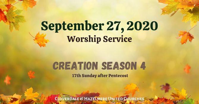 September 27, 2020 Worship Service image