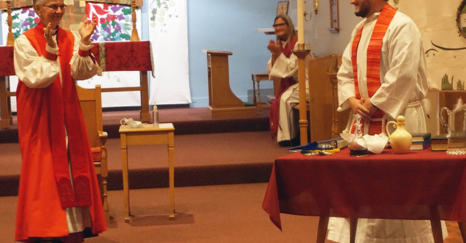 Induction at St. Faith's on the Feast of St. Matthew image