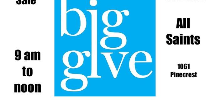 The Big Give  2021 — Saturday, June 5, 2021 tbc  image