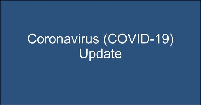 Coronavirus (COVID-19) Update March 14 - ALL SERVICES  & ACTIVITIES CANCELLED THIS WEEKEND image