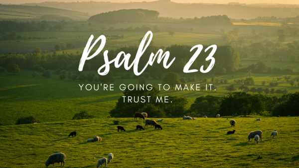 Psalm 23: You're Going to Make It: Trust Me.