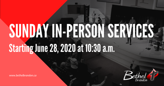 Starting Sunday In-Person Services