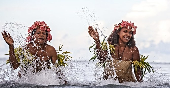 Art and Soul for Lent  Day 43 - The Water Women of Vanuatu