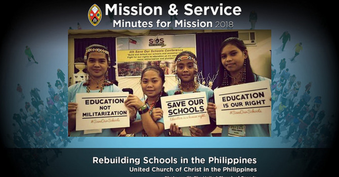 Minute for Mission: Rebuilding Schools in the Philippines image