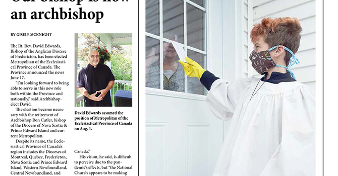 September edition of the New Brunswick Anglican image