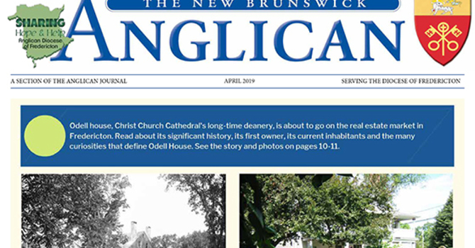 New Brunswick Anglican April 2019
