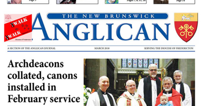 New Brunswick Anglican March 2018