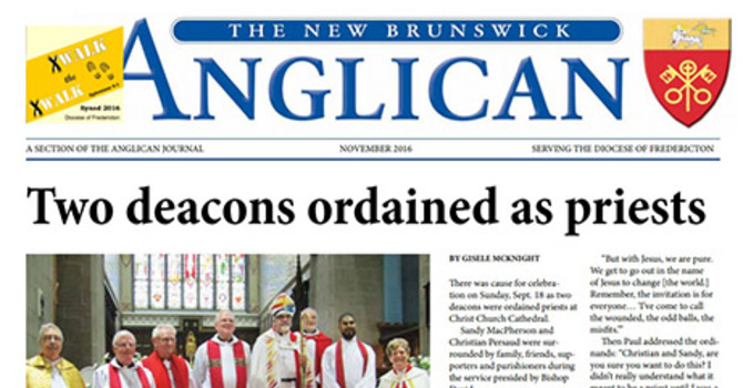 New Brunswick Anglican November 2016 image