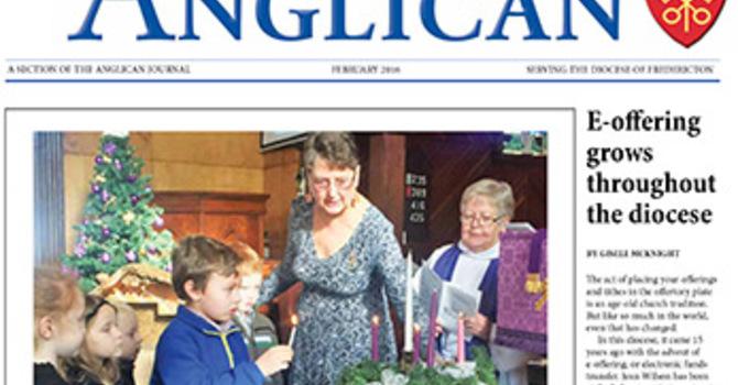 New Brunswick Anglican February 2016 image
