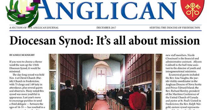 New Brunswick Anglican December 2017 image