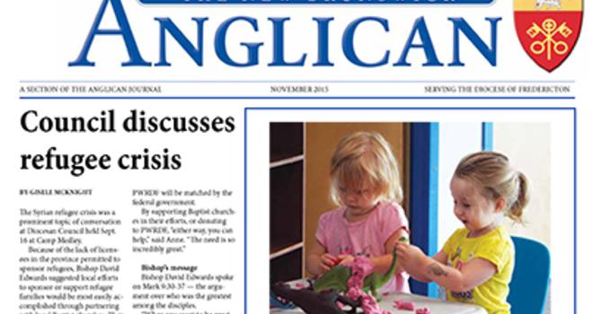 New Brunswick Anglican November 2015 image