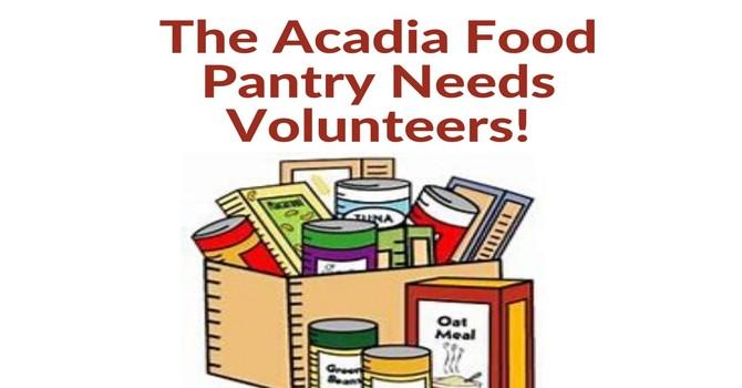 The Acadia Food Pantry Needs Volunteers! image