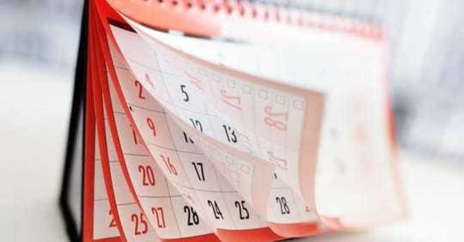October Calendar image