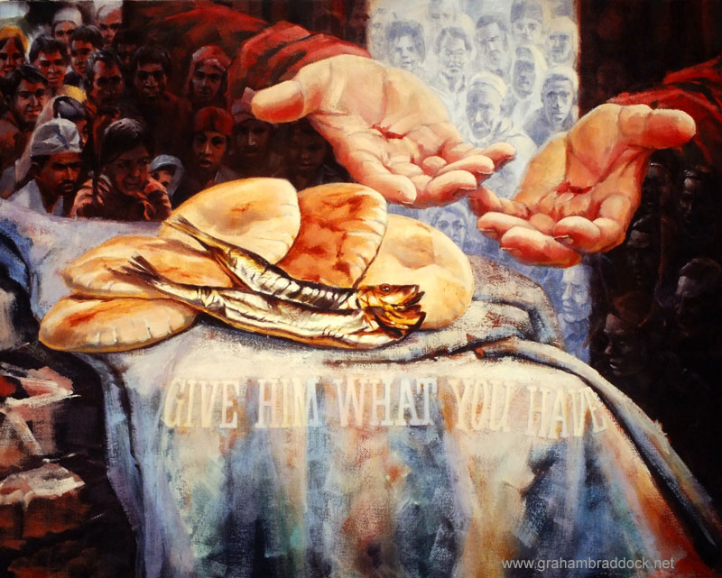 At the fourth sign of jesus living theology john b for Miracle of the loaves and fishes
