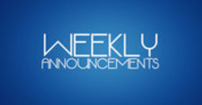 Weekly Bulletin Announcements image