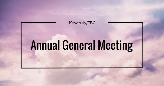 AGM March 3, 2019 @ 10:00am image