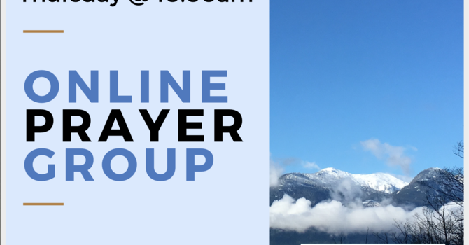 Online Prayer Group On Summer Break