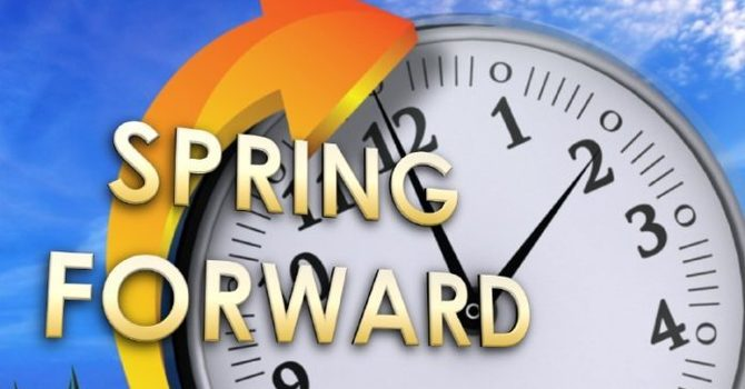 Don't Forget Daylight Saving Time Starts Sunday, March 8th image