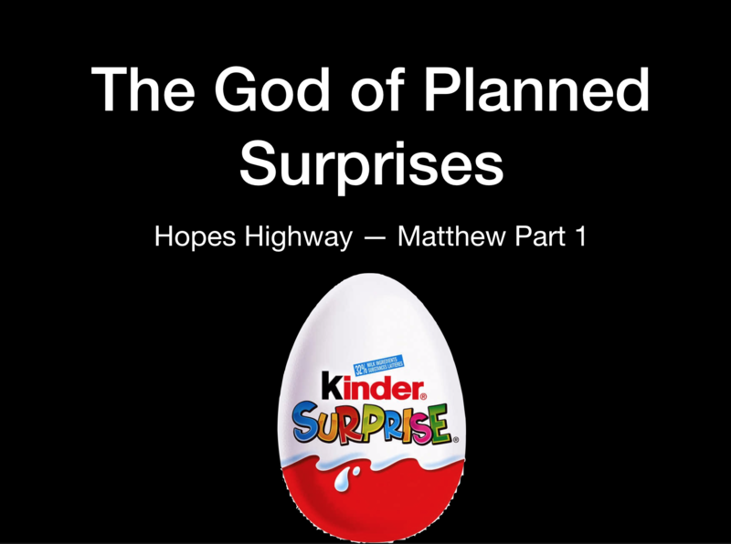 The God of Planned Surprises