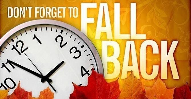 Don't Forget Daylight Saving Time Ends This Sunday, November 1st image