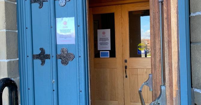 Doors closing at Christ Church Cathedral image