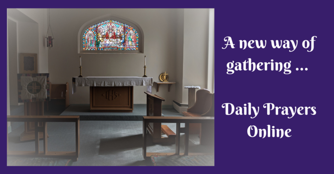 Daily Prayers for Wednesday, May 20, 2020