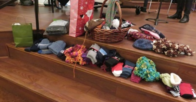 White Gifts, Bake Sale for Haiti and donations for Breakfast Club image